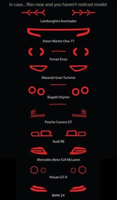 Supercars at night! by Marius Saukevicius, via Behance