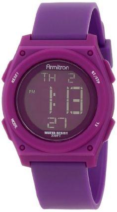 Armitron Sport Women's 45/7027PUR Colorful Purple Resin Strap Chronograph Watch - http://www.specialdaysgift.com/armitron-sport-womens-457027pur-colorful-purple-resin-strap-chronograph-watch/