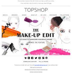 Topshop's newsletter - Makeup