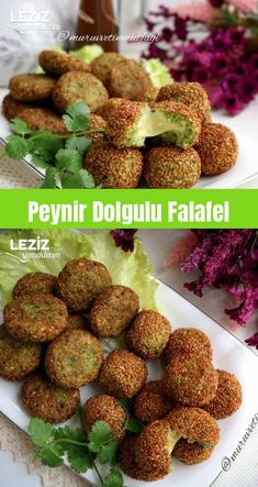 Peynir Dolgulu Falafel Vejeteryan yemek tarifleri Vejeteryan yemek tarifleri – The Most Practical and Easy Recipes Easy Snacks, Easy Healthy Recipes, Healthy Snacks, Easy Meals, Falafels, Appetizer Recipes, Appetizers, Turkish Recipes, Ethnic Recipes