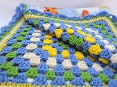 In flight crochet baby blanket granny square by ValkinThreads2