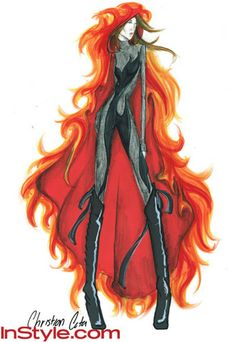 Fashion-Designers-Sketch-Katniss-s-Girl-on-Fire-Outfit-the-hunger-games-27573577-345-500.jpg (345×500)