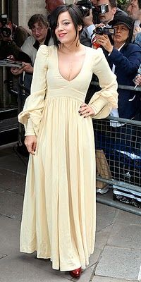 OMG I absolutely love this dress .... Biba dress. Lily Allen you look stunning.