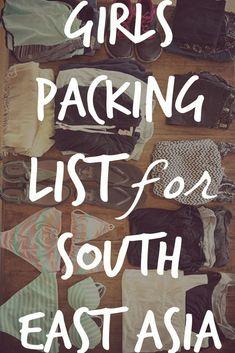 Ultimate Girls Packing List for Southeast Asia! #asiatravel #southeastasiatravel