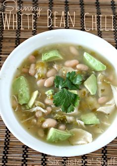 Skinny White Bean Soup - a perfect light meal if you are trying to eat healthy!