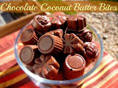 Chocolate Coconut Butter Bites: Eat Your Coconut Butter on the Go!