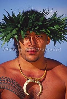 Traditional Kahiko hula dancer