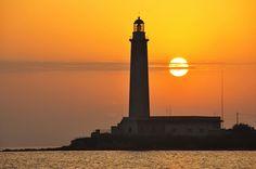 Sunset on the lighthouse (Explore), via Flickr. ~ Faro di Capo Granitola (Mazara del Vallo-Sicilia)