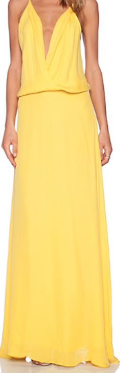 Fashionable bright maxi dress