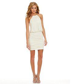 Jodi Kristopher Glitter Blouson Dress