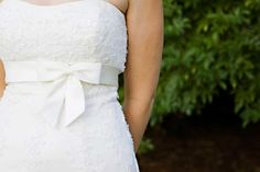 lace and bows! simple and elegant.  #wedding #denverwedding #wedding dress #weddinggown