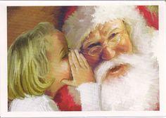 Girl Whispering to Santa Claus! | Flickr - Photo Sharing!