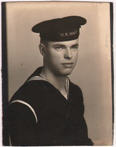 1940's sailor in a photo booth...