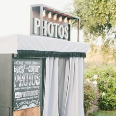 Vintage Inspired Photo Booth Wedding Reception Idea