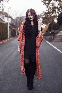 Selina | Picture taken with self timer for one of my outfit posts wearing Spell Designs Babushka Maxi Kimono | Moonlight Bohemian Outfit Posts, My Outfit, Spell Designs, Fashion Photography, Kimono Top, Street Style, Style Inspiration, Moonlight, Street Fashion