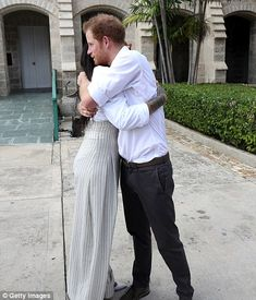 Prince Harry with Rihanna before the tests...