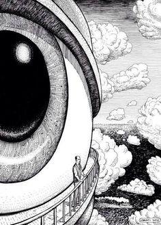 drawing art eyes painting eye psychedelic creative strange mind surrealism s… – painting Art Inspo, Art Sketches, Art Drawings, Drawing Art, Surrealism Drawing, Drawing Ideas, Pop Art, Negative Space Art, Art Noir