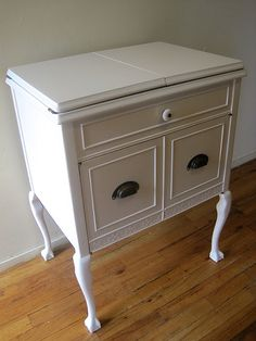 Elegant Queen Anne Sewing Cabinet
