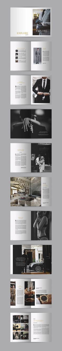 Explore Luxury - Magazine - Mise en Page - Brochure Editorial Design, Editorial Layout, Editorial Fashion, Magazine Design, Magazine Layouts, What Is Fashion Designing, Graphisches Design, Design Hotel, Interior Design