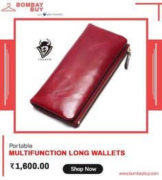 Buy Oil Leather Clutch Portable Multifunction Long Women Wallets Online from Leather Clutch, Leather Men, Magic Women, Money Cards, Mini Purse, Online Fashion Stores, Long Wallet, Clutch Wallet, Wallets For Women
