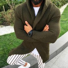 New Arrivals Men's Fashion Casual Knitted Cardigans Solid Color Hoodies Long-Sleeved Slim Fit Sweaters Winter Warm Coats Jackets Long Hoodie, Sweater Hoodie, Men Sweater, Cardigan Sweaters, Hooded Cardigan, Casual Sweaters, Open Cardigan, Mens Fashion Online, Latest Mens Fashion