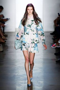 FLORAL Pretty blooms are naturally associated with sunshine and warm breezes, but fresh flowered looks can exist in a winter garden, too. Wear the colorful prints with dark pieces now and plan on pairing with other poppy hues in a few months time.  As seen at: Peter Som, Spring 2013