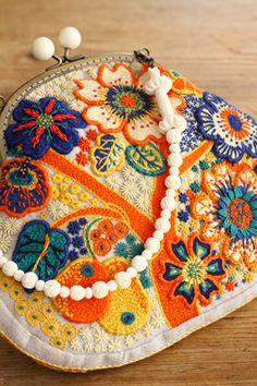 夢想の花~2013年作品No6~ Handmade Bag with embroidery