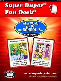 What You Do At SCHOOL if- App review from Sublime Speech.  great app for problem-solving, pragmatic difficulties, and language difficulties. Pinned by  SOS Inc. Resources.  Follow all our boards at http://pinterest.com/sostherapy  for therapy   resources.