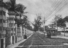 Streetcar passing through Paseo Colón street San José Costa Rica 1900's [1363x975] http://ift.tt/2gC6uW6