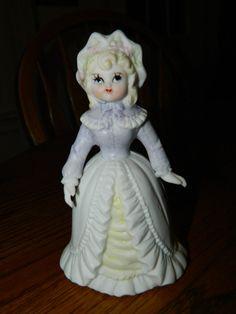 Unique Victorian Girl Figurine BellVintage Novelty By ZiggyzAttic
