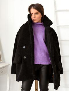 Παλτό Κοντό Με Κουμπιά Μαύρο - My Therapy Raincoat, Coats, Jackets, Fashion, Rain Jacket, Down Jackets, Moda, Wraps, Fashion Styles