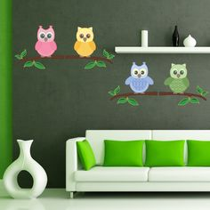 """Style and Apply Baby Owls Wall Decal Size: 31"""" H x 27"""" W"""