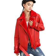 New 2016 Winter Jacket Women Thick Pu Leather Jacket Jackets Short Loose Lamb Wool Plus Cashmere Motorcycle Coats JS3061 (32752266259)  SEE MORE  #SuperDeals