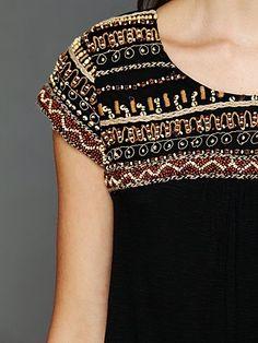 Tunic top / Beaded detailing / High Fashion / Ethnic & Oriental / Carpet & Kilim & Tiles & Prints & Embroidery Inspiration /