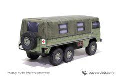 Pinzgauer 712 6x6 Military paper model | http://papercruiser.com/downloads/pinzgauer-712-6x6/