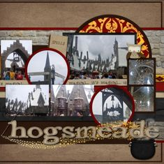 Hogsmeade Right - MouseScrappers - Disney Scrapbooking Gallery Vacation Scrapbook, Disney Scrapbook Pages, Scrapbook Paper Crafts, Scrapbooking Layouts, Harry Potter Disney, Harry Potter Hogwarts, Harry Potter Scrapbook, Our Adventure Book, Freebies