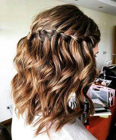 Trança cascata cabelo curto