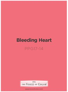 Bleeding Heart Pink Paint Color By Ppg Voice Of Get This Tinted