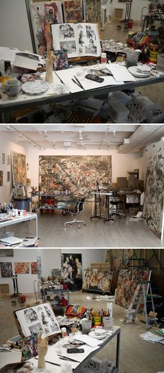 Studio: New York City, New York: Cecily Brown - British painter. (http://www.gagosian.com/artists/cecily-brown)