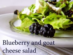 TynaTyna: Blueberry and goat cheese salad Goat Cheese Salad, Goats, Blueberry, Homemade, Vegetables, Food, Berry, Blueberries, Hoods