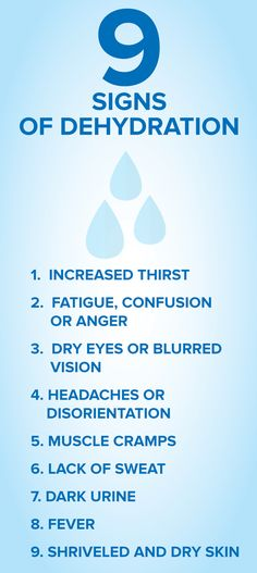 It's important to stay hydrated as the weather gets warmer. If you experience any of these symptoms, they might be an indication that you're dehydrated.
