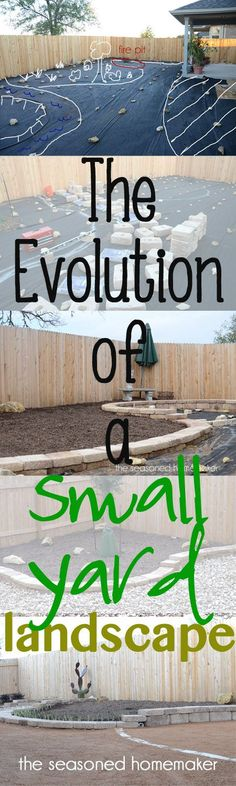 If you have a Small Backyard and you live in a dry climate then you may want to follow the Evolution of a Small Yard Landscape- The Seasoned Homemaker