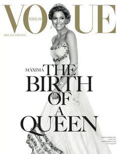 Onze MAXIMA op de cover van de nieuwe VOGUE...Isn't she lovely? En wat een glamour...