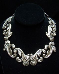 Los Castillo Vintage Mexican Silver Necklace