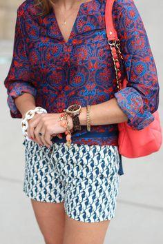 Paisley Patterns  #lace #short #bag #horse #gold #blouse #short