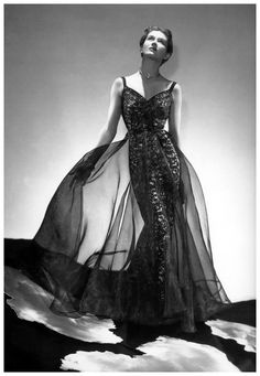 Lisa Fonssagrives is wearing a gown by Alix Barton (later known as Madame Grès), photo by George Platte Lynes, New York [Harper's Bazaar, April 1937]