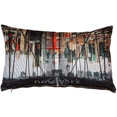 Pillow Decor New York Brooklyn Bridge Throw Pillow 12x20 ($30) ❤ liked on Polyvore featuring home, home decor, throw pillows, white toss pillows, pillow decor, white throw pillows, new york home decor and polyester throw pillows
