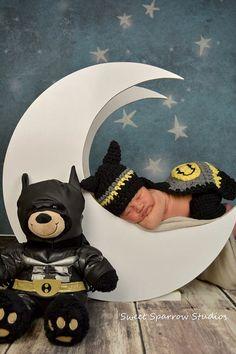 Little Batman Photography Prop Set  Newborn by CocoBabyDesigns, $28.00