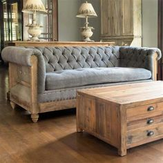 Chesterfield Sofas, Tufted Sofa, Chesterfield Living Room, Sofa Design, Design Design, Living Room Sofa, Living Room Furniture, Fine Furniture, Furniture Design
