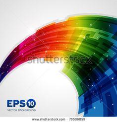 Stylish Digital Flowing Liquid Design Stock Vector 96871924 : Shutterstock